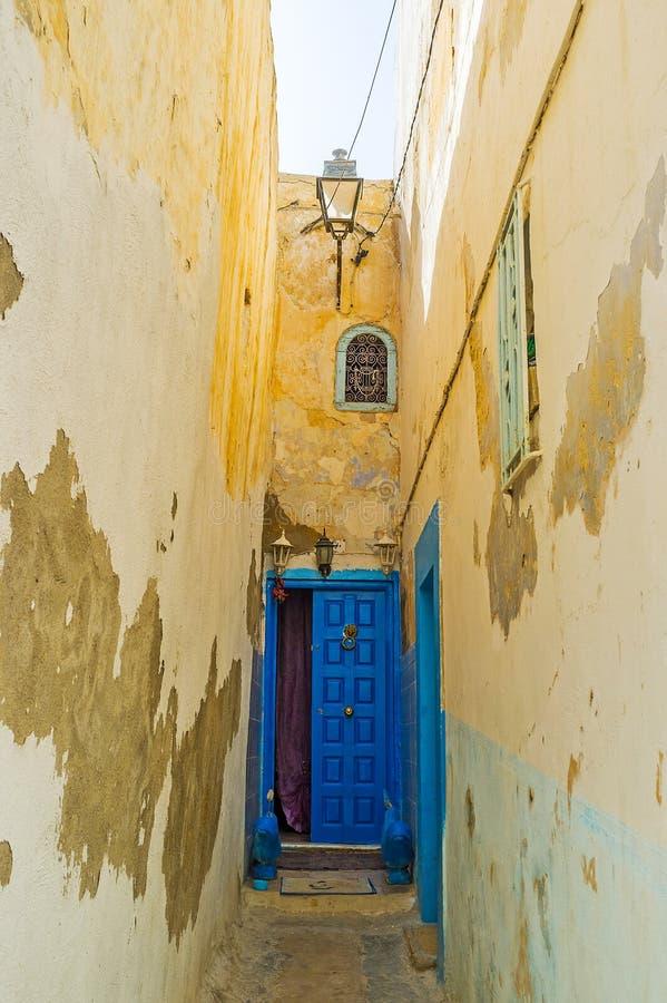 在车道,苏斯,突尼斯的门 免版税库存照片