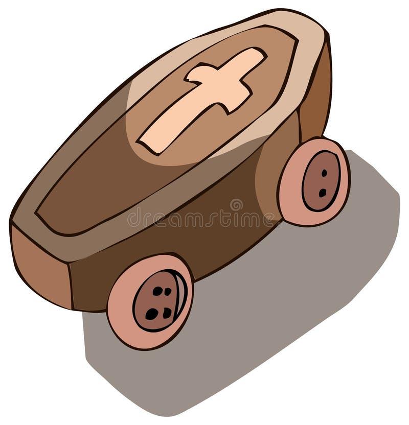 在轮子传染媒介例证的棺材 向量例证
