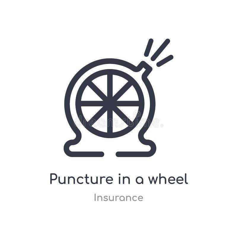 在轮子概述象的刺 r 在a的编辑可能的稀薄的冲程刺 库存例证