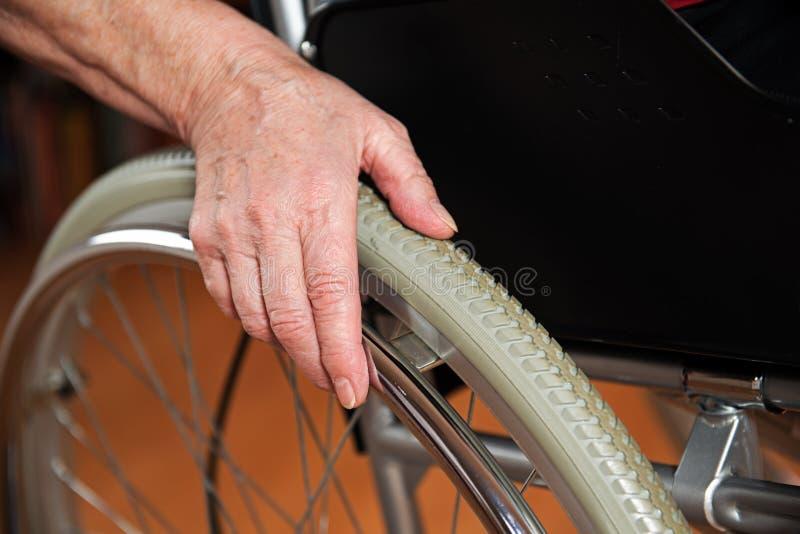 在轮椅 免版税图库摄影