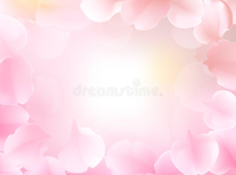 在软的颜色和迷离样式的甜颜色花背景的 皇族释放例证