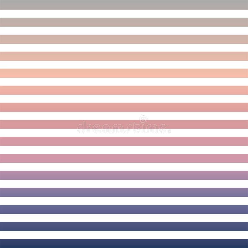 在软的颜色的水平的细条纹 皇族释放例证