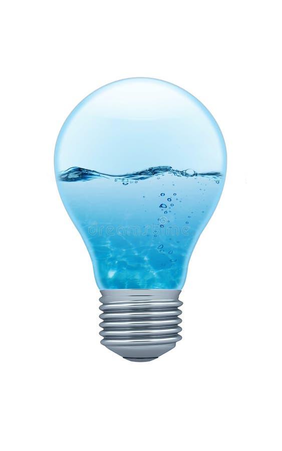 在轻水里面的电灯泡 皇族释放例证