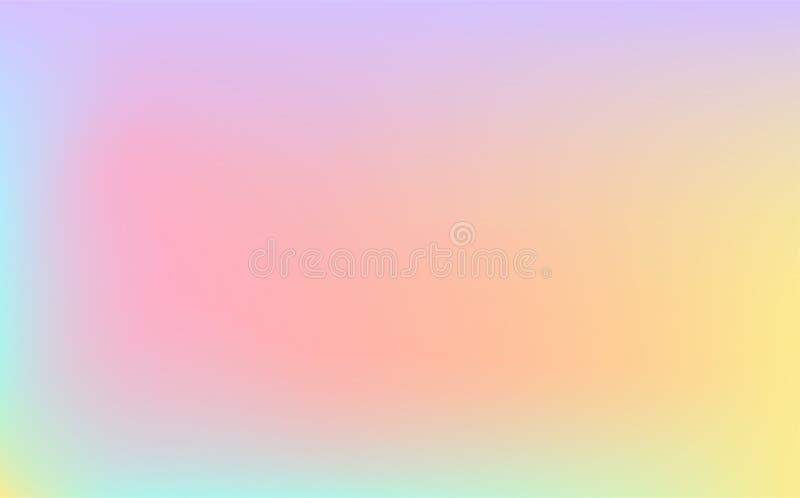 在轻的淡色彩虹颜色的传染媒介背景 库存例证