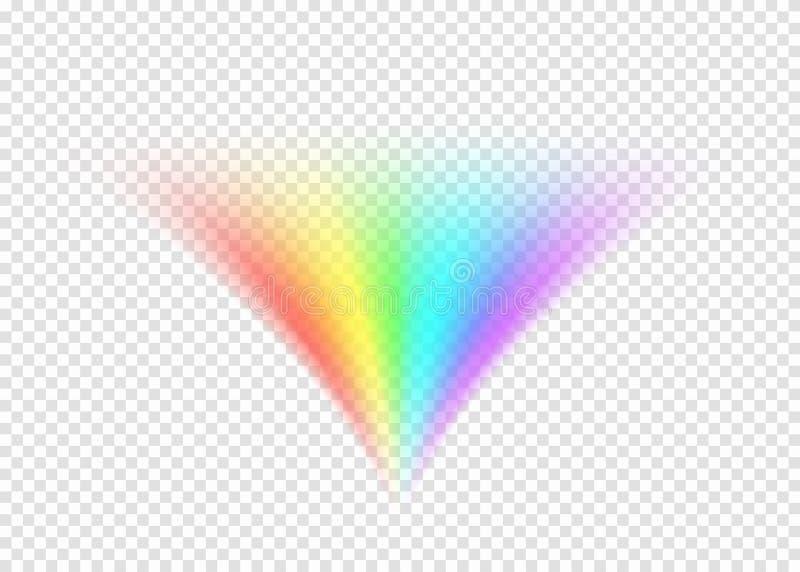 在轻的透明背景的彩虹路 皇族释放例证