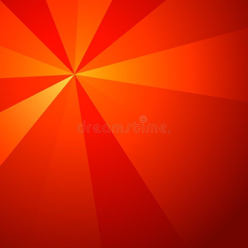 在辐形结构的光芒 向量例证