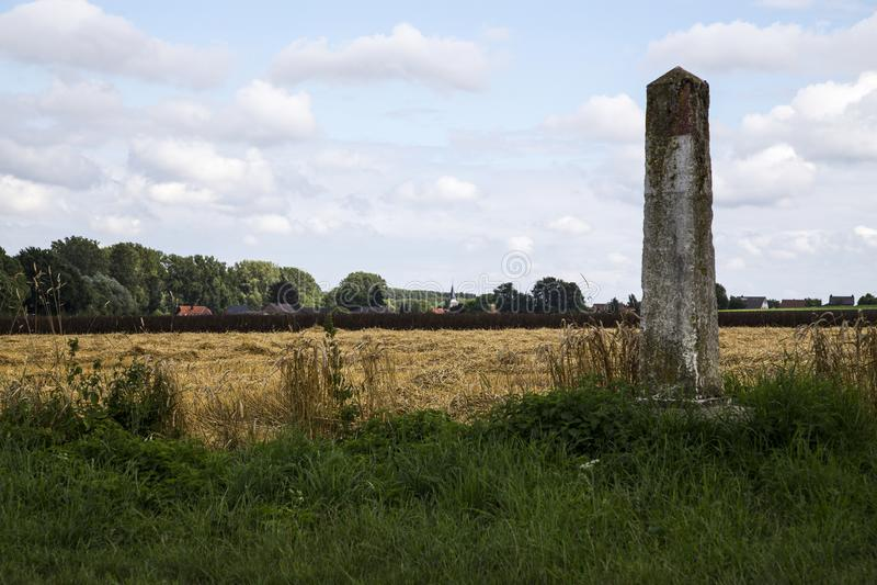 在边界的老边境口岸在荷兰和德国之间 库存照片