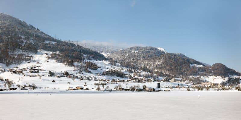 在达沃斯,瑞士附近的瑞士阿尔卑斯 库存照片