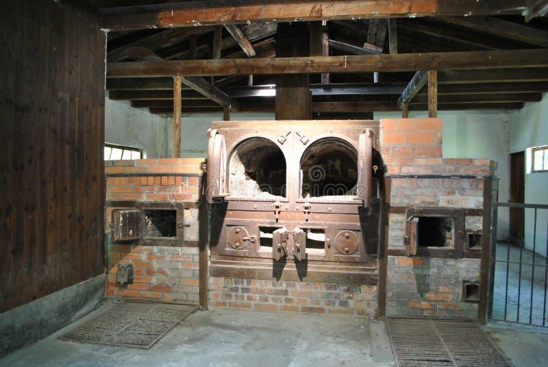 在达豪的火葬场 库存照片