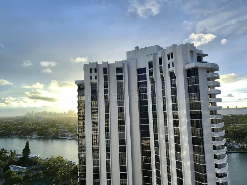 在迈阿密海滩,佛罗里达,美国的惊人的看法 库存照片