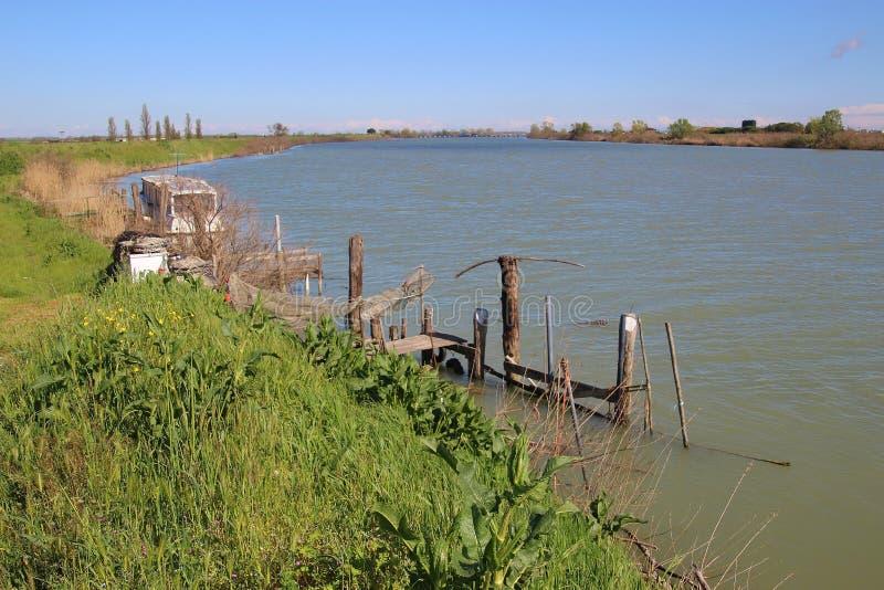 在这个区域Delta del Po,一个自然天堂 意大利,欧洲 库存照片