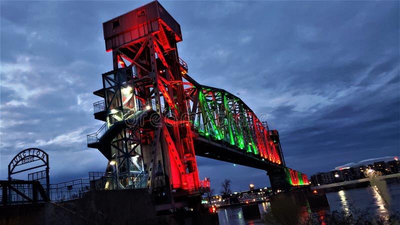 在连接点桥梁2的冬天 库存图片