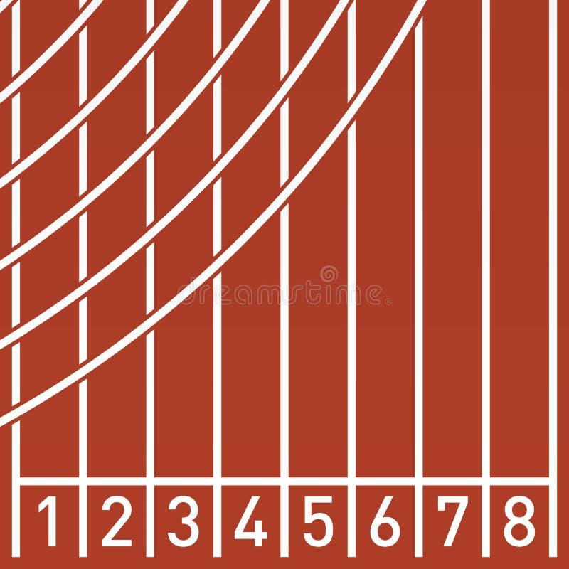 在连续轨道的直线 库存例证