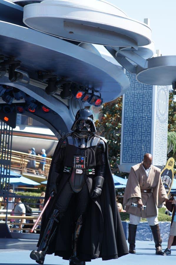 在迪斯尼乐园的Darth Vader 免版税库存照片