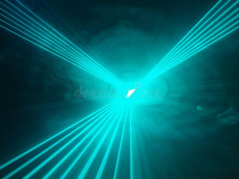 在迪斯科俱乐部的轻的展示光芒 库存照片
