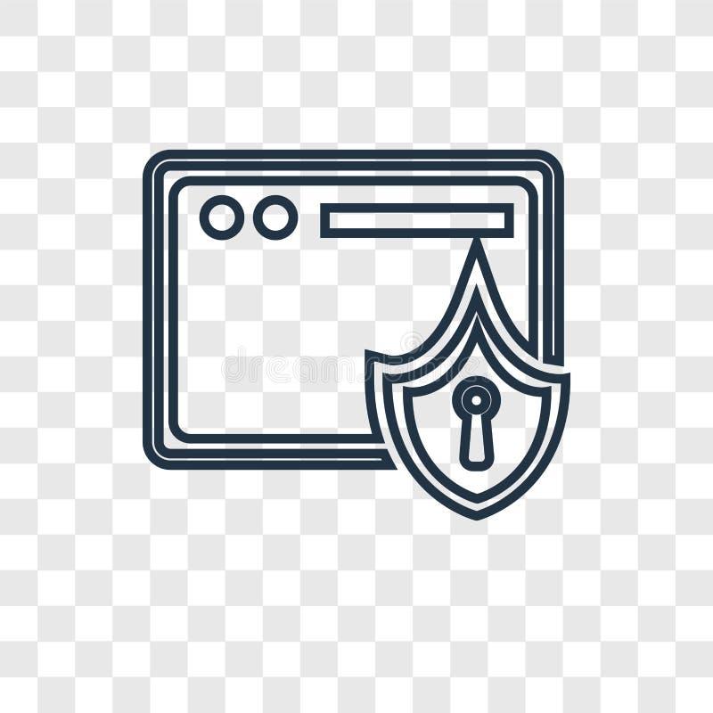 在透明后面隔绝的安全概念传染媒介线性象 皇族释放例证