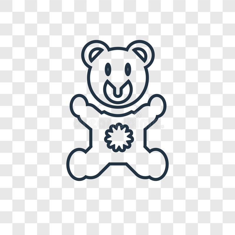 在透明后面隔绝的熊帽子概念传染媒介线性象 皇族释放例证