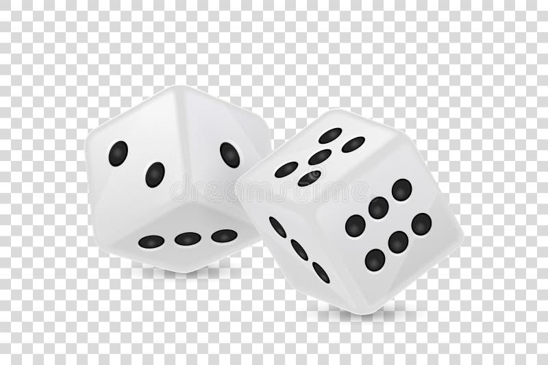 在透明度栅格背景隔绝的在飞行中白色现实比赛模子象特写镜头的传染媒介例证 娱乐场 库存例证