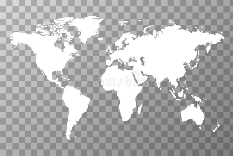 在透明背景的全世界地图 皇族释放例证