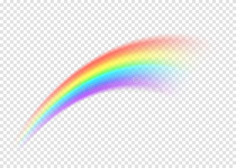 在透明背景的彩虹污迹 皇族释放例证