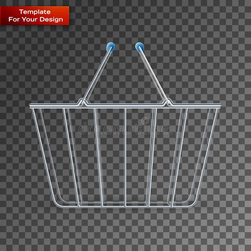 在透明背景的手提篮 向量例证