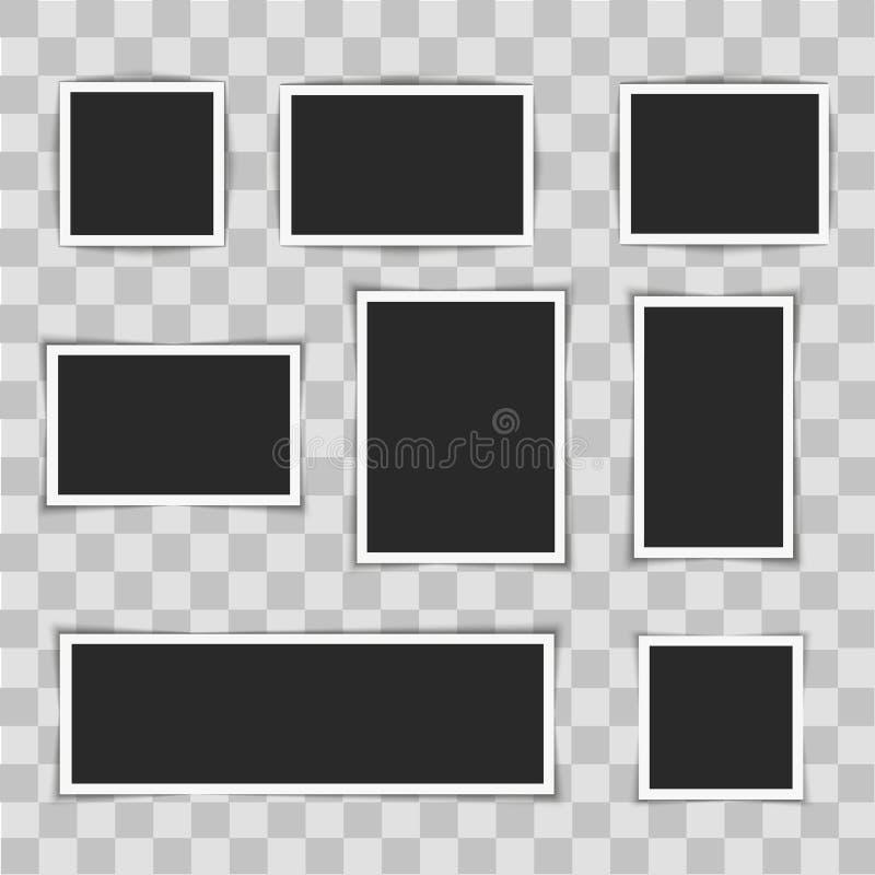 在透明背景的照片框架 也corel凹道例证向量 皇族释放例证