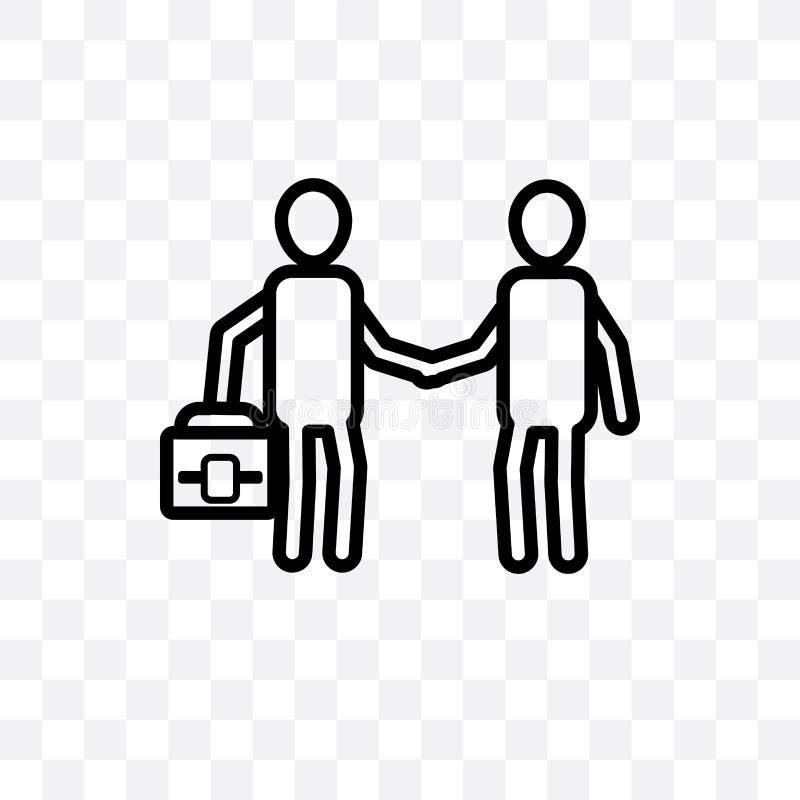 在透明背景隔绝的保险代理公司传染媒介线性象,保险代理公司透明度概念可以为的网使用 向量例证