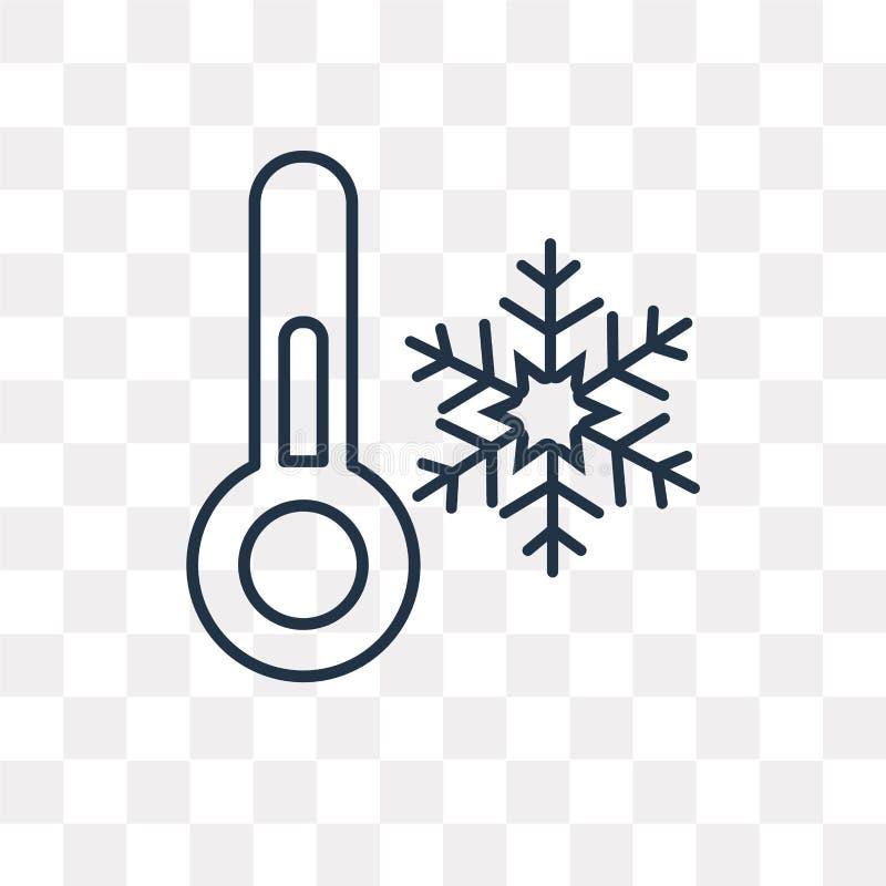 在透明背景隔绝的冷的温度传染媒介象, 皇族释放例证