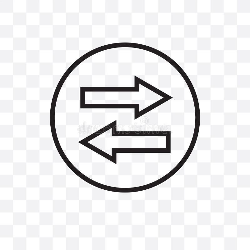 在透明背景隔绝的同步传染媒介线性象,同步透明度概念可以为的网使用 库存例证