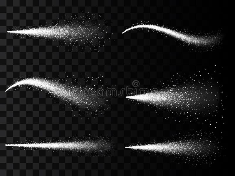 在透明背景隔绝的喷水薄雾的创造性的例证 艺术雾化器设计3d云彩  触发器spra 皇族释放例证