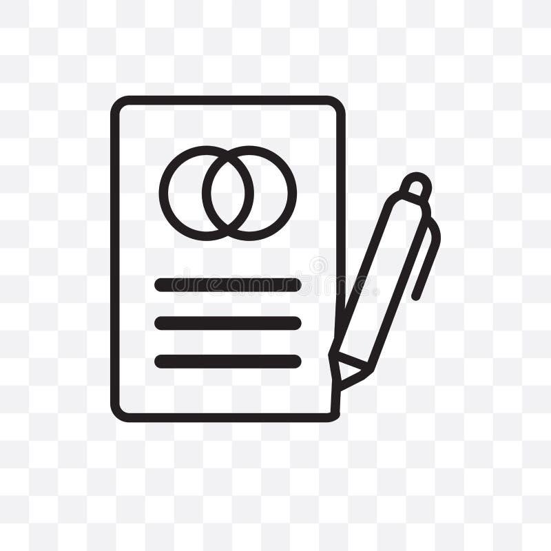在透明背景隔绝的婚姻的信件传染媒介线性象,婚姻的信件透明度概念可以为网使用和 皇族释放例证