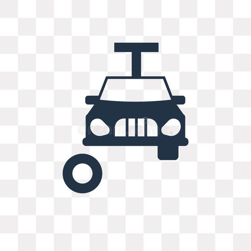 在透明背景隔绝的改变的车胎传染媒介象 库存例证