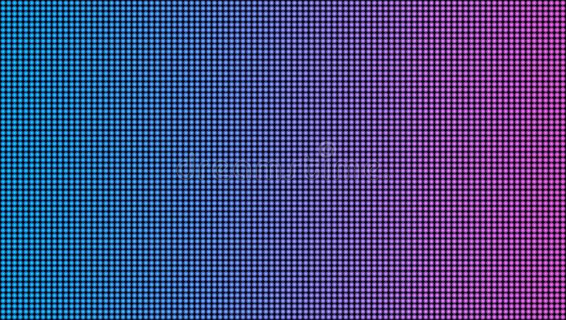 在透明背景隔绝的被带领的屏幕宏观纹理的创造性的传染媒介例证 艺术设计rgb二极管 向量例证