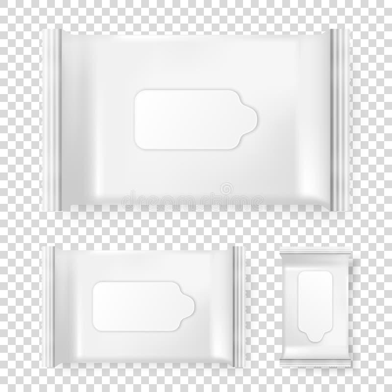在透明背景隔绝的现实传染媒介盒湿抹象集合 传染媒介烙记的设计模板 皇族释放例证
