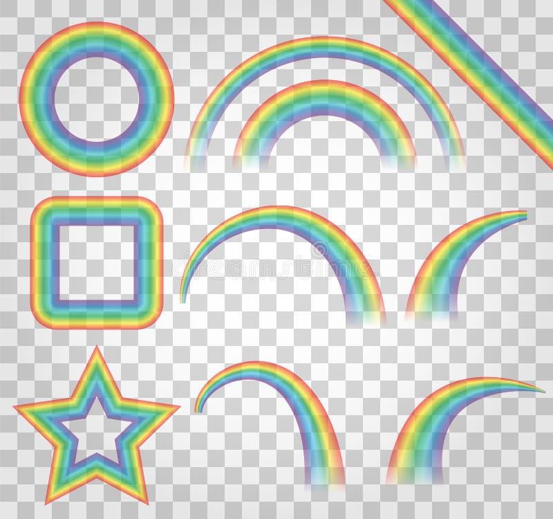 在透明背景隔绝的颜色彩虹 g的套 向量例证