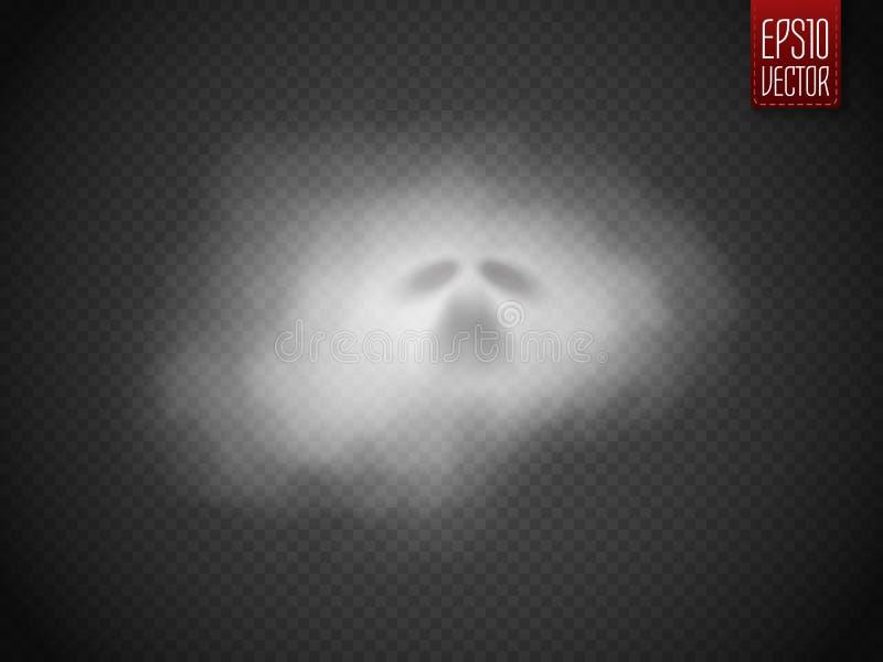 在透明背景隔绝的鬼魂 向量 向量例证