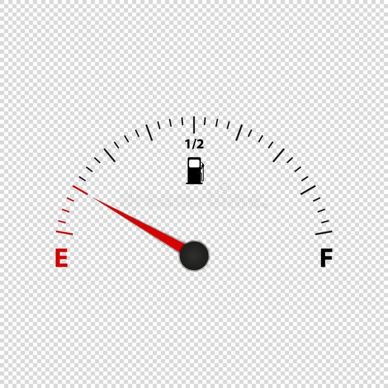 在透明背景-传染媒介例证-隔绝的汽油表米 库存例证