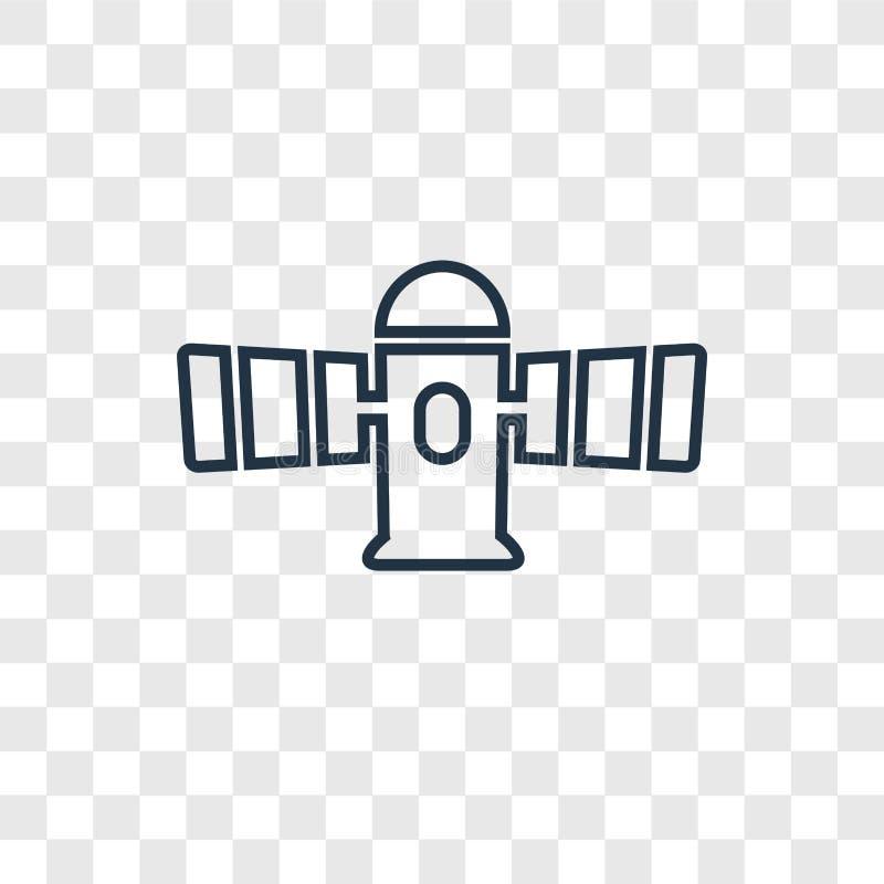 在透明隔绝的空间模块概念传染媒介线性象 皇族释放例证