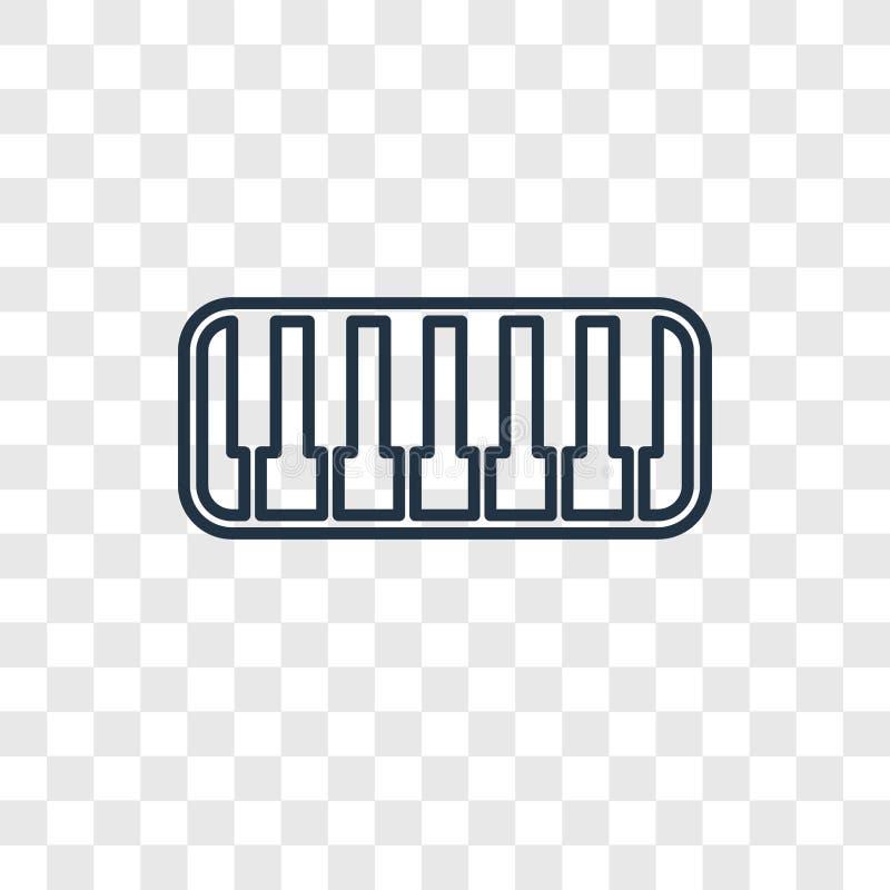 在透明隔绝的键盘玩具概念传染媒介线性象 向量例证