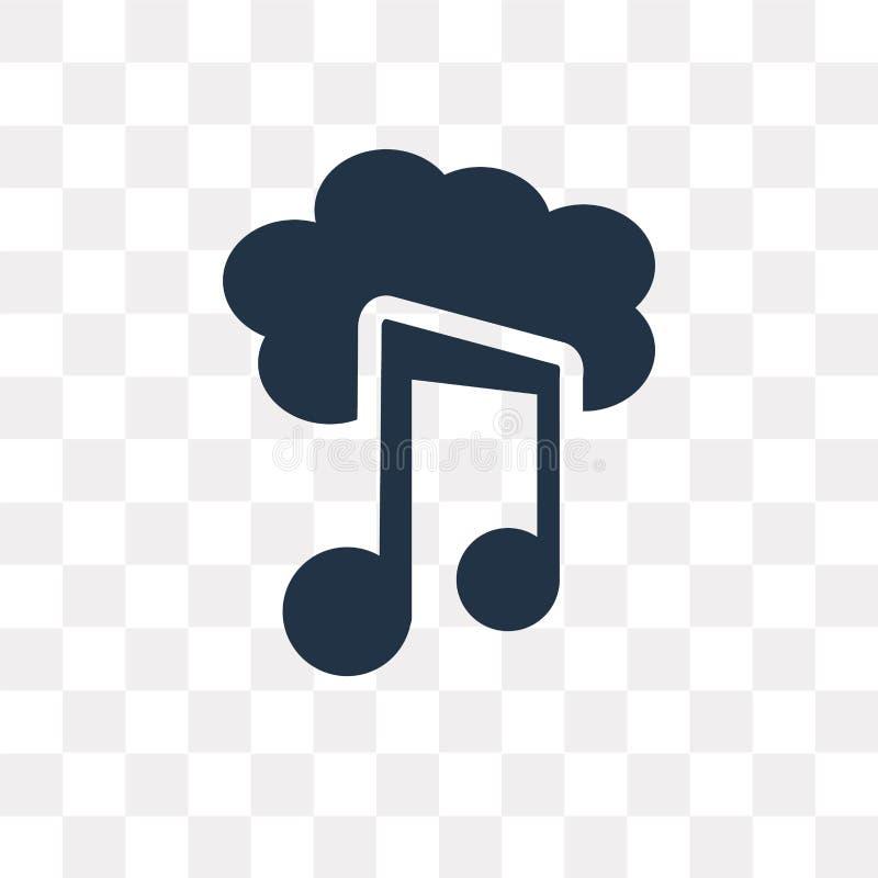 在透明backg隔绝的被下载的音乐云彩传染媒介象 向量例证