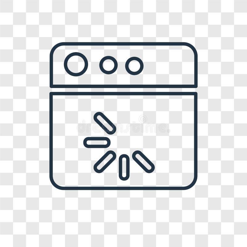 在透明backg隔绝的装载的概念传染媒介线性象 向量例证