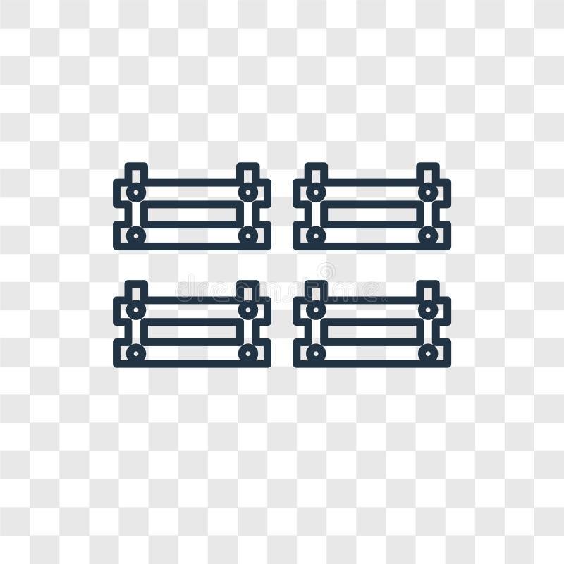 在透明backgr的篮子概念传染媒介线性象 皇族释放例证