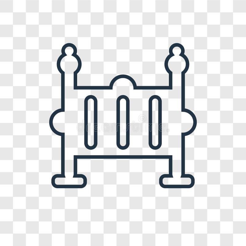 在透明backgr隔绝的摇篮概念传染媒介线性象 库存例证