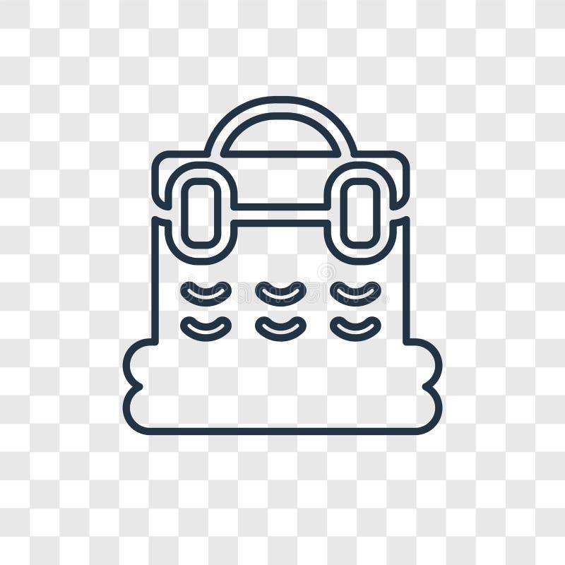 在透明backgr隔绝的篮子概念传染媒介线性象 库存例证