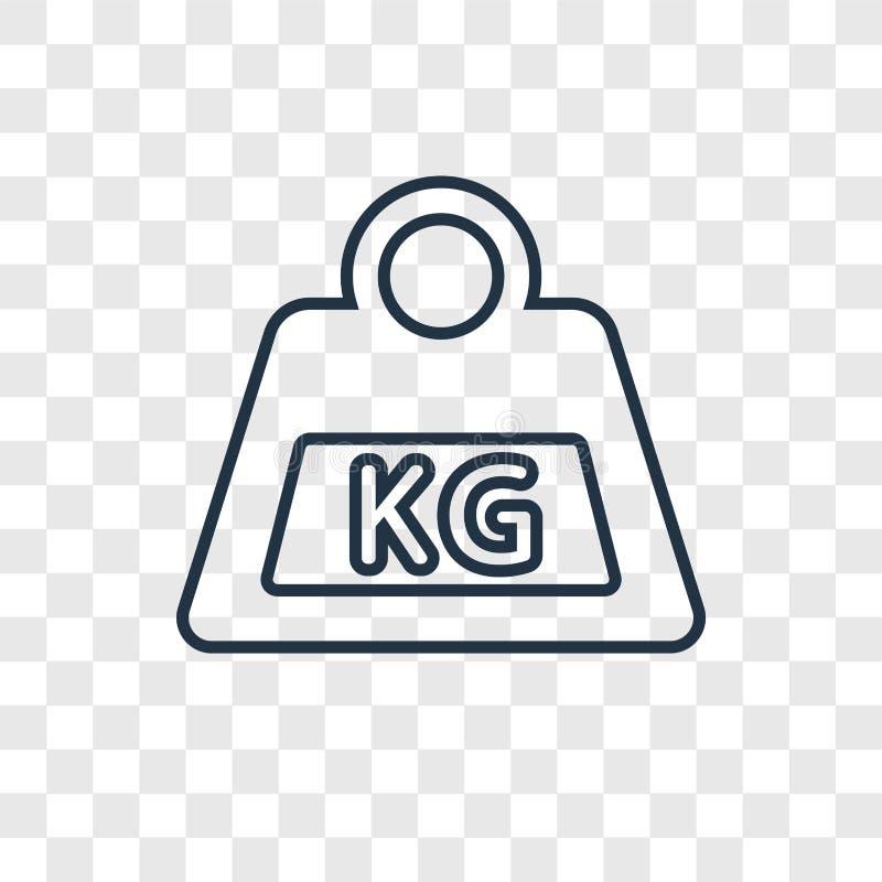 在透明backgr隔绝的重量概念传染媒介线性象 向量例证