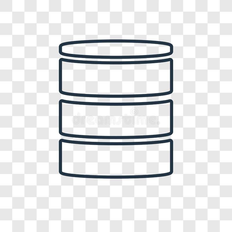 在透明backgro隔绝的Mysql概念传染媒介线性象 库存例证