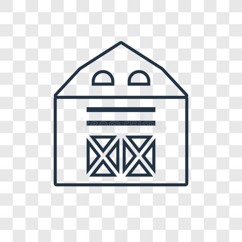 在透明backgrou隔绝的谷仓概念传染媒介线性象 皇族释放例证