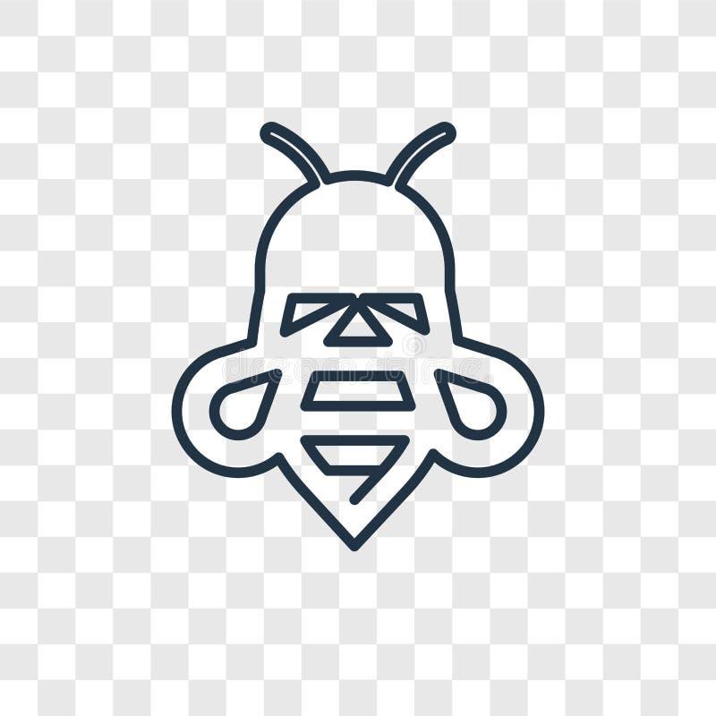 在透明backgroun隔绝的蜂概念传染媒介线性象 向量例证
