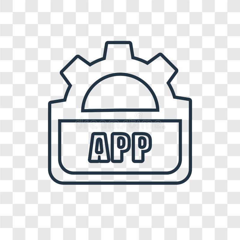 在透明backgroun隔绝的Api概念传染媒介线性象 皇族释放例证