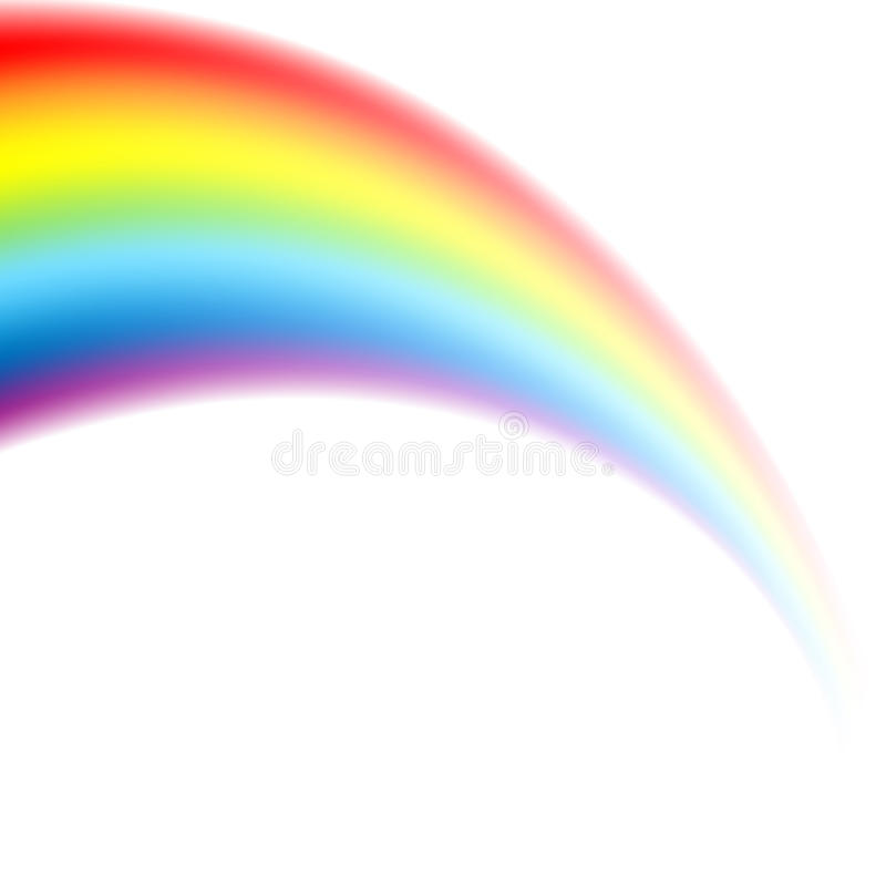 在透视的彩虹 向量例证